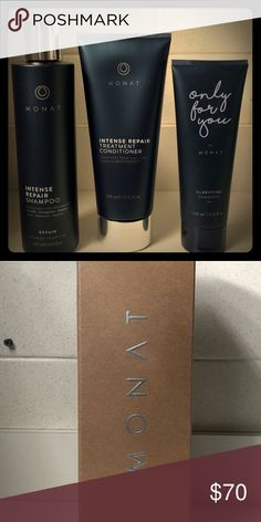 Monat Hair Products Intense repair shampoo & conditioner +4oz. Clarifying shampoo ($100+ value for all 3) Monat Other