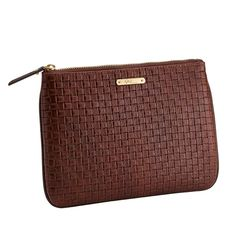 GiGi New York, Woven Leather Collection:The All in One Clutch Bag