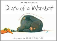 Diary of a Wombat by Jackie French, illustrations by Bruce Whatley. Kids learn the daily routine of a lazy wombat by reading his diary entries. Good Books, Books To Read, My Books, Story Books, Music Books, Best Children Books, Childrens Books, The Wombats, Diary Entry