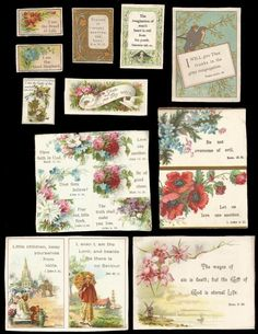 L48 - 11 SMALL VICTORIAN RELIGIOUS MOTTO CARDS - SCRIPTURE - BIBLE QUOTATIONS | eBay