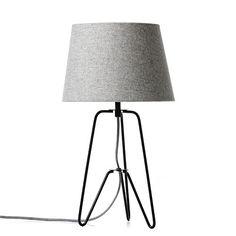 Hemsworth Black and Grey Marle Table Lamp