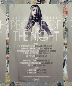 People of the Night #fashion #poster #design