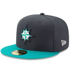 Seattle Mariners New Era Diamond Era 59FIFTY Fitted Hat - Navy/Teal