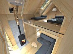Modern Tiny House, Tiny House Cabin, Cabin Homes, Cabin Design, Tiny House Design, Modern House Design, A Frame Cabin, A Frame House, Weekend House