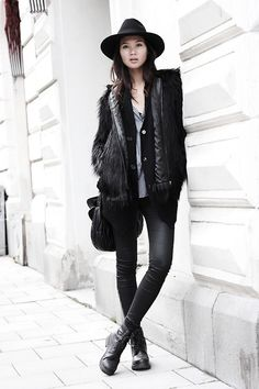 Street Style || Fashion inspiration from real people around the world || Fake Fur for Fall (by Miu N)