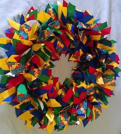 """AUTISM AWARENESS   24"""" to 26"""" Ribbon Wreath Custom Made For Each Individual  Support Autism Today"""