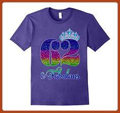 Mens 62 And Fabulous TShirt Queen 62nd Birthday Shirt 3XL Purple - Birthday shirts (*Partner-Link)