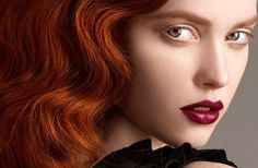 nude eyes, red hair, red lips- my favorite look. photo by ken pao.