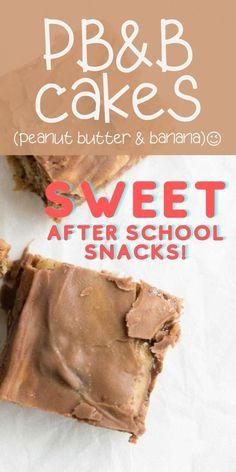 Easy snack cake recipe! Peanut Butter