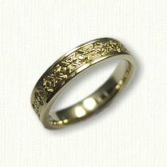 All Colors of Gold Available or Sterling Silver Southwestern Mojave Style Wedding Band 6.0-7.0 mm width