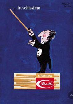 """ Barilla: Fresh, Very Fresh poster by Herbert Leupin Vintage Italian Posters, Pub Vintage, Vintage Advertising Posters, Vintage Italy, Creative Advertising, Advertising Design, Vintage Advertisements, Retro Ads, Vintage Food Labels"