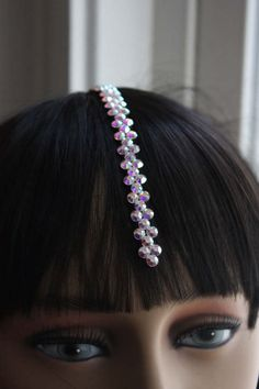 Check out this item in my Etsy shop https://www.etsy.com/listing/504571208/rhinestone-hairpiece-center-part