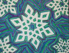 Paper snowflake, marker lines fill negative space