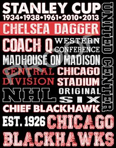 Chicago Blackhawks Subway Art by 515DesignStudio on Etsy, $20.00