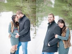 Maternity session in the snow by Little Lamb Photography.