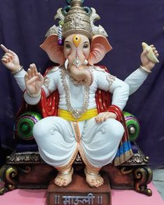 Chandra is described as young and beautiful, two-armed and carrying a club Clay Ganesha, Ganesha Art, Durga Images, Ganesh Images, Shri Hanuman, Shri Ganesh, Krishna, Happy Ganesh Chaturthi Images, Ganpati Bappa Wallpapers