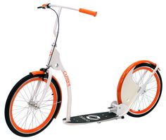 Featuring a unique styling, this Current Coaster kick bike scooter gives you the best of both worlds and is sure to be your new favorite mode of transportation. Retro Scooter, Scooter Bike, Kick Scooter, Pro Scooters, Ecommerce Platforms, Bike Frame, Cycling Bikes, Tricycle, Orange