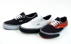 Boys Vans...Levi has a pair of black ones and he loves them.