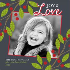 Love And Holly 5x5 Flat Stationery Card by Petite Lemon