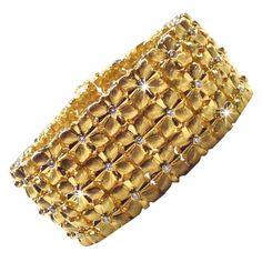 Bracelet 18k Diamond Wide Cuff