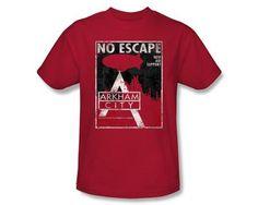 Batman T-Shirt - Arkham City No Escape Adult Red Tee Batman Shirts Arkham City Take home this awesome looking Batman Arkham City No Escape t-shirt Batman Arkham City, Batman Shirt, Tees, Mens Tops, T Shirt, Shopping, Clothes, Warner Bros, Fan
