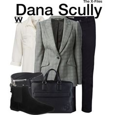 Inspired by Gillian Anderson as Dana Scully on The X-Files.