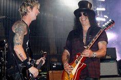 Duff n Slash of Guns n' Roses