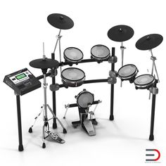 Electronic Drum Kit Roland 3d model #3d #model #Electronic #DrumKit  http://www.turbosquid.com/3d-models/3d-electronic-drum-kit-roland-model/954745?referral=3d_molier-International