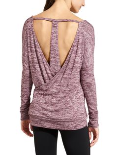 Pose Layered Top  (purple marl, grey marl, dark marl)