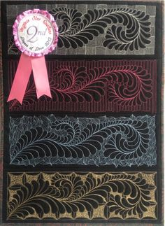 Wow! Four Feathered Friends placed second in the quilt challenge.