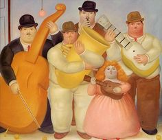 The Musicians Artwork By Fernando Botero Oil Painting & Art Prints On Canvas For Sale Diego Rivera, Clemente Orozco, Arte Pop, Kinds Of Music, Art Music, Artist Art, Canvas Art Prints, Art History, Art Photography