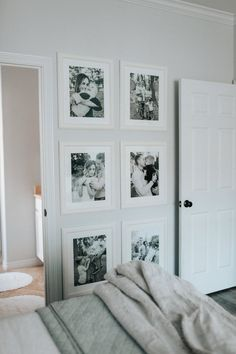 Gallery walll in Master Bedroom