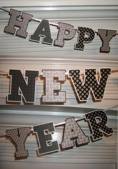 happy new year letter banner black and by apaperplayground happy new year letter