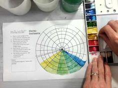 Color Wheel Watercolor Glazing (Part 1/2) - YouTube