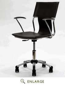 Studio Office Chair in Brown Vinyl -  EEI-198-BRN