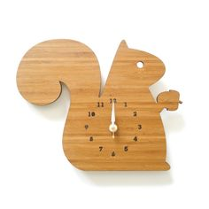 Squirrel Clock / Dot and Bo. Be careful of too many animals though