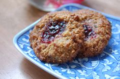 Almond thumbprint cookies and jam from The Nourishing Gourmet. I will use my Trader Joe's Just Almond Meal in this recipe.