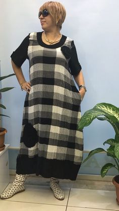Girl Fashion, Womens Fashion, Mom Outfits, Dress Suits, Linen Dresses, Sewing Clothes, Plus Size Dresses, Plus Size Fashion, Evening Dresses