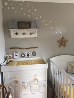 Grey and Mustard nursery with stars