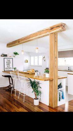 Offene helle Küche - da macht frühstücken Spaß! Gesehen bei http://hannahblackmorephotography.com/