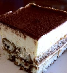 Tiramisù - Oh, this is the famous, quintessential 'pick-me-up' dessert made of sponge cake soaked in rich coffee, Marsala wine, cocoa, amidst layers of sweet mascarpone cheese!   Records show that Tuscany and Veneto have fought over the origin of this recipe, however many sources confirm that it hails from Venice.