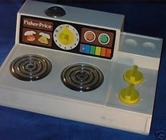 Fisher Price toy cooker. Very familiar... Did I have it, or was it a friend's? Hmmm...
