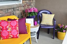 How to spruce up your front porch with a can of spray paint and a small budget!
