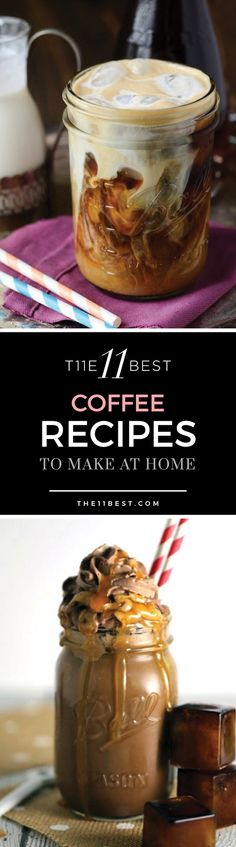 Homemade coffee drink recipe ideas TO DIE FOR!