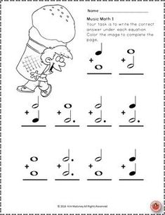 Music Theory Worksheet!  26 SUMMER Music Math coloring worksheets aimed at reinforcing students' understanding and knowledge of note and rest values.   ♫ CLICK through to read more or RE-PIN for later!  ♫