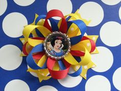 Snow white hair bow also available for monkey love por bellecaps
