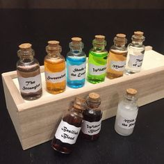 Game of Thrones Collectible Potions & Herbs 9 Vial Gift Set - Custom by NewYorkCityNikki on Etsy https://www.etsy.com/listing/503017413/game-of-thrones-collectible-potions