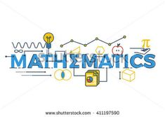 Stock illustration: Illustration of MATHEMATICS word in STEM - science, technology, engineering, mathematics education concept typography design with icon ornament elements. Stem Science, Mathematics, Typography Design, Clip Art, Teacher, Letters, Concept, Education, Words