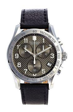 Victorinox Swiss Army® 'Chrono Classic' Leather Strap Watch | Nordstrom