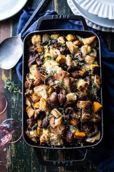Frugal Food Items - How To Prepare Dinner And Luxuriate In Delightful Meals Without Having Shelling Out A Fortune Sydne Style Shares Healthy Thanksgiving Side Dish Recipes With Butternut Squash Mushroom Stuffing From Half Baked Harvest Best Stuffing Recipe, Stuffing Recipes For Thanksgiving, Healthy Thanksgiving Recipes, Thanksgiving Side Dishes, Healthy Recipes, Thanksgiving 2016, Healthy Food, Eating Healthy, Clean Eating
